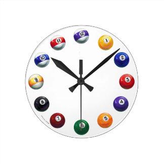 Coole Pool-Ball-runde Wand-Uhr Runde Wanduhr