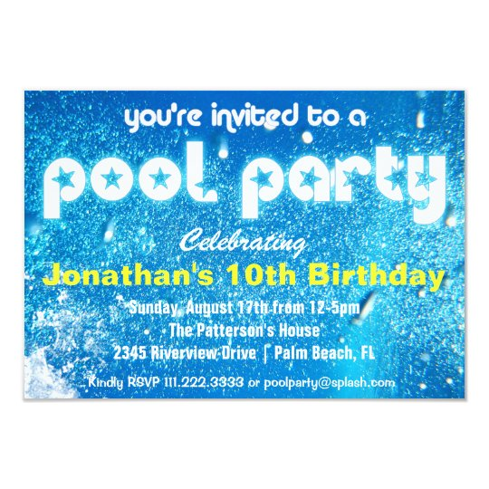 Coole Pool-Party Einladung | Zazzle.ch