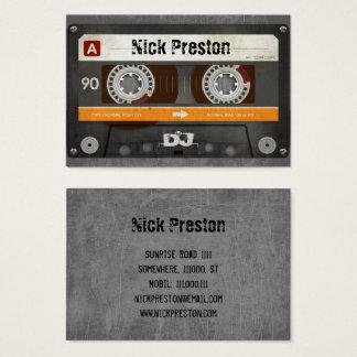 Coole Retro Audiokassette | DJ beruflich Visitenkarte
