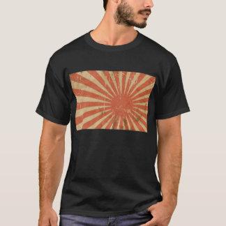 Coole Retro japanische Flagge fantastischer T-Shirt
