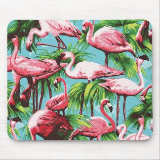 Coole Retro rosa Flamingos Mousepad