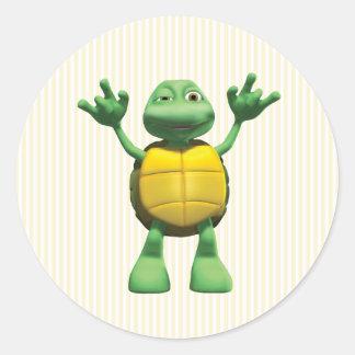 Coole Schildkröte Runder Aufkleber