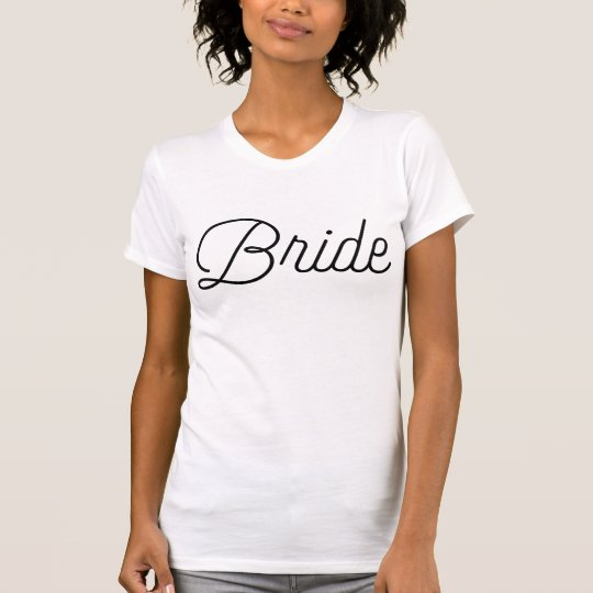 Coole Skript-Braut T-Shirt