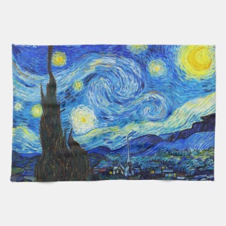 Coole Starry Nachtvincent van gogh Malerei Handtuch