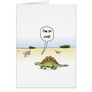 Coole Stegosaurus-Geburtstags-Karte Grußkarte