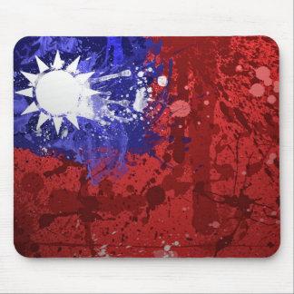 Coole Taiwan-Flaggen-Mausunterlage künstlerisch Mauspads