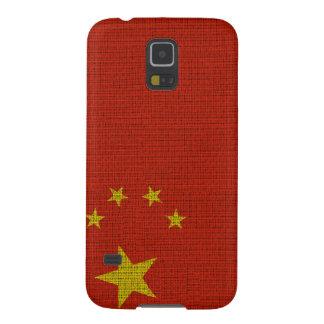 Coole trendy Chinaflaggenleinwand Samsung S5 Hüllen