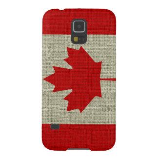 Coole trendy Kanada-Flaggenleinwandbeschaffenheit Samsung S5 Hüllen