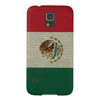 Coole trendy Mexiko-Flaggenleinwandbeschaffenheit Samsung Galaxy S5 Cover