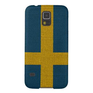 Coole trendy Schweden-Flaggenleinwand Samsung S5 Cover