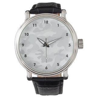 Coole weiße Camouflage, Tarnung Uhren