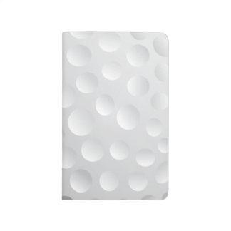Coole weiße Golf-Ball-Beschaffenheit, Golfspieler Taschennotizbuch