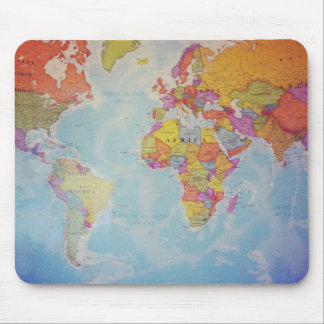 Coole Weltkarte Mousepads