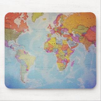 Coole Weltkarte Mauspads