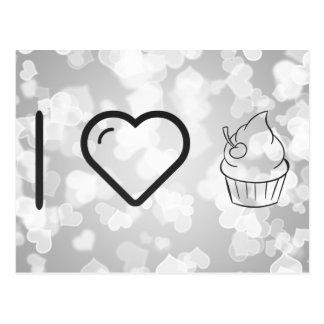 Coole Zuckerglasur-kleine Kuchen Postkarten