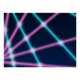 Cooler 80er Laserlicht-Show-Hintergrund-Retro Neon Poster