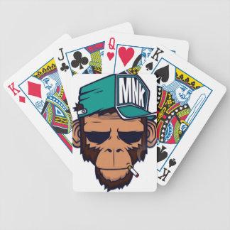Cooler Affe mit einer Zigarette Bicycle Spielkarten