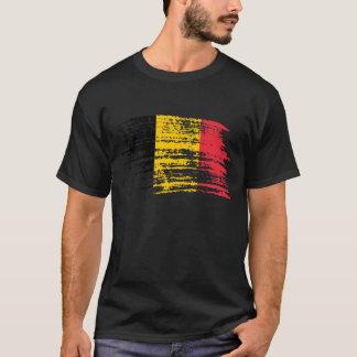 Cooler belgischer Flaggenentwurf T-Shirt
