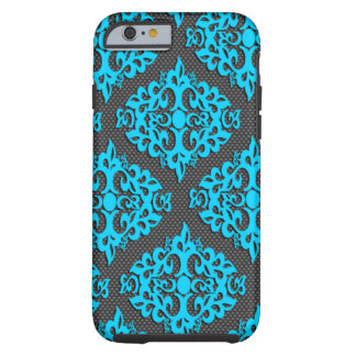 Cooler blauer Damast iPhone 6 Kasten Tough iPhone 6 Hülle