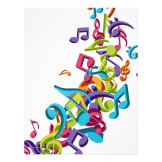 cooler bunter Musiknoten und Töne 21,6 X 27,9 Cm Flyer