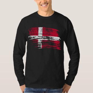 Cooler dänischer Flaggenentwurf T-Shirt
