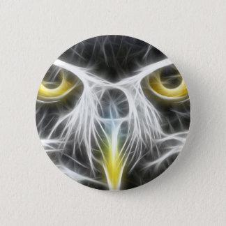 Cooler Eulen-Entwurf Runder Button 5,7 Cm