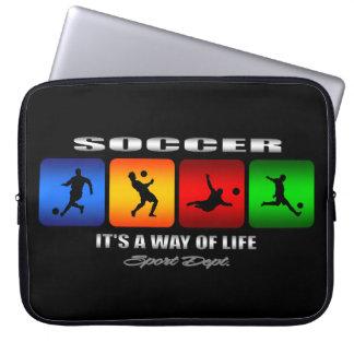Cooler Fußball ist es eine Lebensart Laptop Sleeve