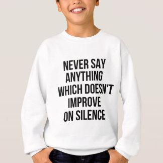 Cooler großer einfacher Klugheitsphilosophie Sweatshirt