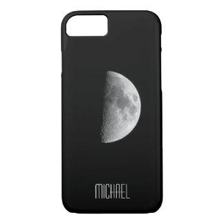 Cooler halber Mond-personalisierter Name iPhone 8/7 Hülle