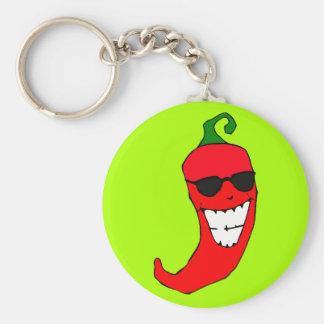 Cooler Herr Rot - heißer Pfeffer Schlüsselanhänger