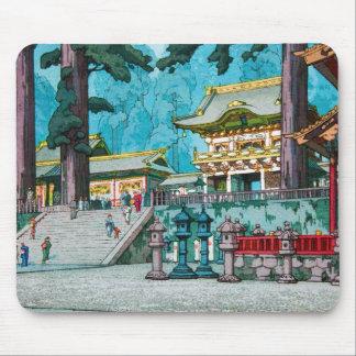 Cooler japanischer kawase hasui Tempel-Waldschrein Mousepad