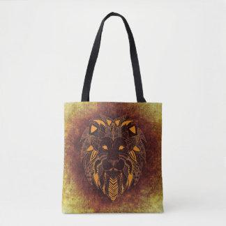 Cooler künstlerischer Löwe Tasche