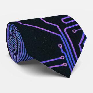 Cooler Leiterplatte-Computer-blaues Lila Personalisierte Krawatten