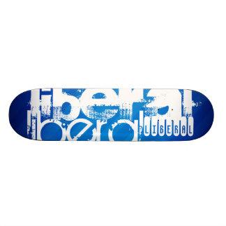 Cooler Liberaler; Königsblau-Streifen 18,1 Cm Old School Skateboard Deck