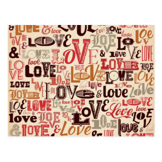 Cooler Liebe-Text-Entwurf Postkarte
