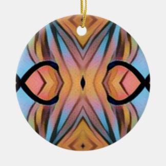 Cooler moderner Chic-künstlerisches Muster Rundes Keramik Ornament