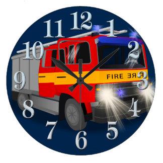 Cooler Notfeuer-Motor-Cartoon-Entwurf für Kinder Uhr