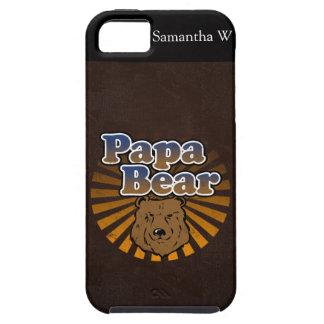 Cooler Papa-Bär, Brown/Blau/Goldvati-Geschenk Schutzhülle Fürs iPhone 5