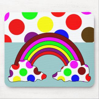 Cooler Polka-Punkt-Regenbogen Mousepad