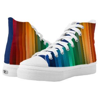 Cooler Regenbogen Stripes Tritte Hoch-geschnittene Sneaker