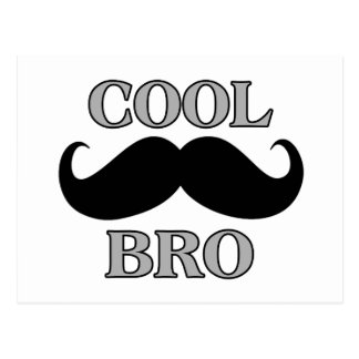 Cooler Schnurrbart Bro Postkarte