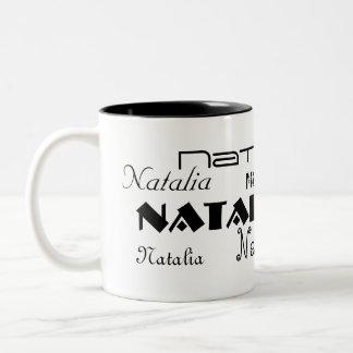Cooler Schriftart Ihr Name personalisiert Zweifarbige Tasse