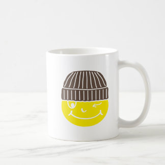 Cooler Smilie mit Mütze Kaffeetasse