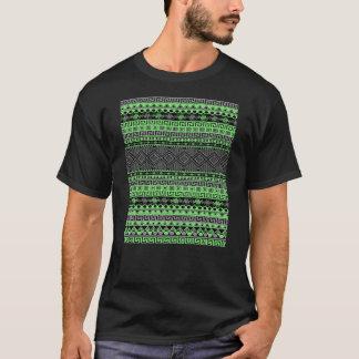 Cooler Sommer trendy grüner grauer schwarzer T-Shirt