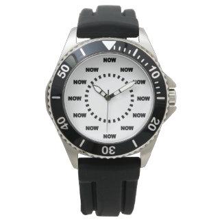 """Cooler Sport """"JETZT"""" (weißer Hintergrund) Armbanduhr"""