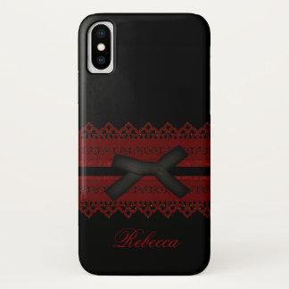 Cooler Steampunk gotischer roter iPhone X Hülle