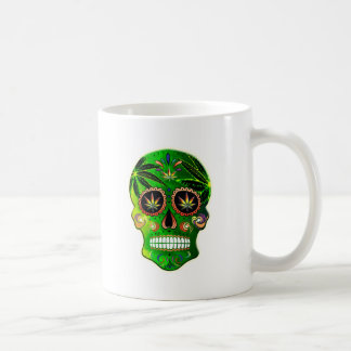 Cooler Tag des toten Zuckerschädel-Unkrauts Kaffeetasse