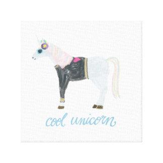 Cooler Unicorn Leinwanddruck
