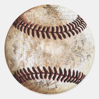 Cooler Vintager Baseball-Aufkleber-freier Raum Runder Aufkleber
