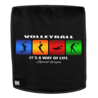 Cooler Volleyball ist es eine Lebensart Rucksack